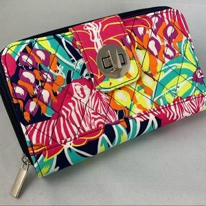 Handbags - New quilted double section wallet with twist lock